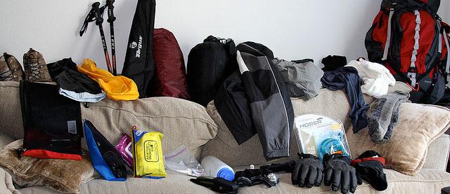 Assortment of climbing/backpacking gear