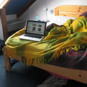 Where we are now: Recovering from land-sickness in a Quito hostel