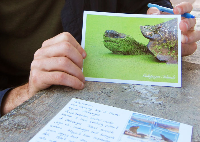 postcard from Galapagos