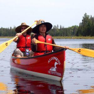 Jill canoeing in Algonquin Park
