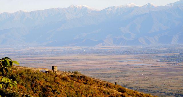 View of Kakheti wine region