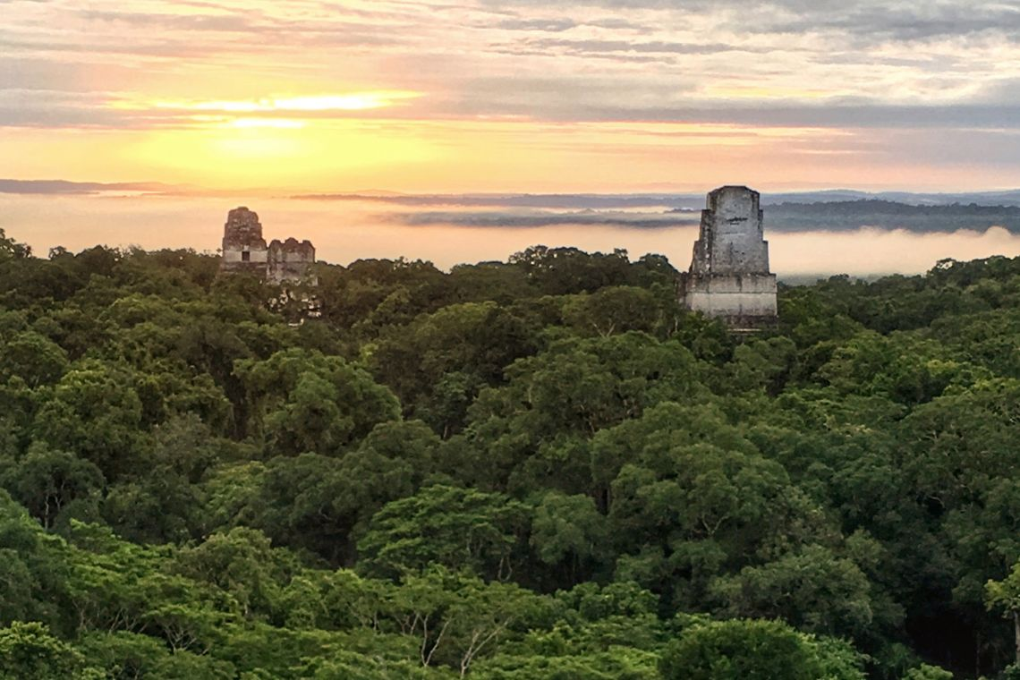 tikal at sunrise